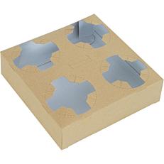 Ποτηροθήκη κραφτ 4 θέσεων (50τεμ.)
