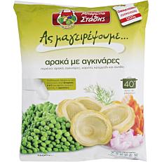 Αρακάς ΜΠΑΡΜΠΑ ΣΤΑΘΗΣ με αγκινάρες κατεψυγμένος (1,2kg)