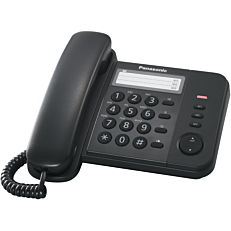 Τηλέφωνο PANASONIC KX-TS520 ενσύρματο, μαύρο