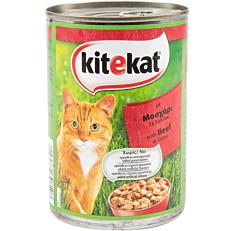 Τροφή KITEKAT γάτας με μοσχάρι σε σάλτσα (400g)
