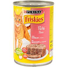 Τροφή FRISKIES γάτας πατέ μοσχαριού και κοτόπουλου (400g)
