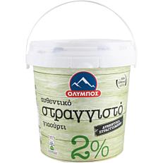 Γιαούρτι ΟΛΥΜΠΟΣ στραγγιστό 2% λιπαρά (1kg)