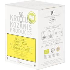 Αφέψημα KROCUS KOZANIS με μαύρο τσάι με λεμόνι και κρόκο Κοζάνης βιολογικό (bio) (10τεμ.)