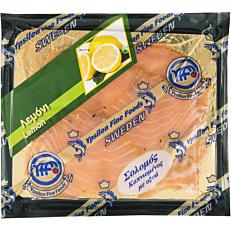 Σολομός YPSILON φιλέτο καπνιστός με λεμόνι Σουηδίας (100g)