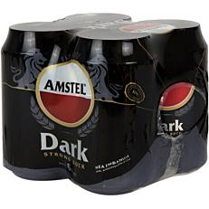 Μπύρα AMSTEL Dark Strong Bock (4x330ml)