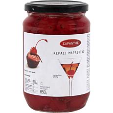 Γλυκό του κουταλιού ΣΑΡΑΝΤΗΣ κόκκινα κεράσια μαρασκίνο (850g)