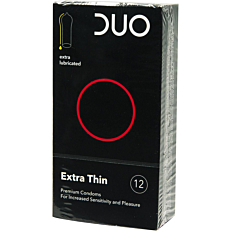 Προφυλακτικά DUO Extra Thin (πολύ λεπτά) (12τεμ.)