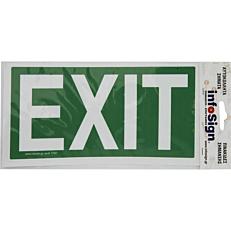 """Σήμα διαφυγής """"Exit"""", αυτοκόλλητο από PVC"""