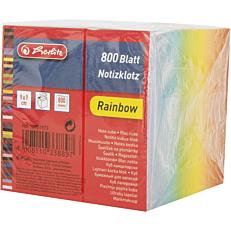 Χαρτάκια σημειώσεων HERLITZ κύβος rainbow 800φύλλων 9x9cm