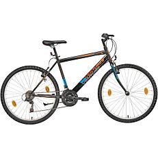 """Ποδήλατο VENTURE MTB REAL 26"""" 18 ταχύτητες αντρικό μπλε και πορτοκάλι"""