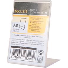 Βάση επιτραπέζια SECURIT Α8, επικλινής, διαφανής