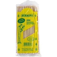 Καλαμάκια HERMINA ξύλινα 250x3mm (250τεμ.)