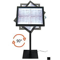 Stand πληροφοριών μαύρο LED, 4xA4