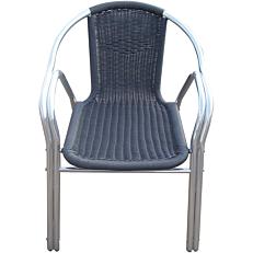 Καρέκλα RESORT LINE αλουμινίου rattan στοιβαζόμενη γκρι