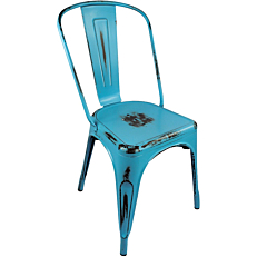 Καρέκλα μεταλλική vintage skyblue
