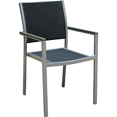 Καρέκλα RESORT LINE αλουμινίου συνθετικό rattan στοιβαζόμενη