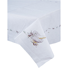 Τραπεζομάντηλα YELLOW με σχέδιο ελιά, λευκά 1x1m (100τεμ.)