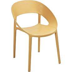 Καρέκλα οβάλ κρεμ