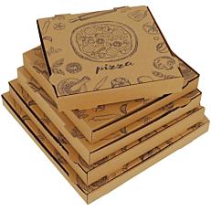 Κουτιά πίτσας microwelle κραφτ 33x4,2cm (50τεμ.)