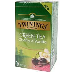 Τσάι TWININGS green tea cherry & vanilla (25x1,7g)