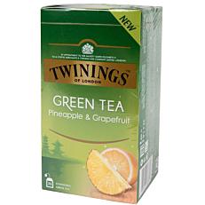 Τσάι TWININGS green tea pineapple & grapefruit (25x1,6g)
