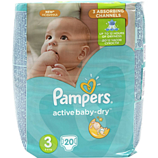 Πάνες PAMPERS Active Baby Dry No.3, 5-9kg (20τεμ.)