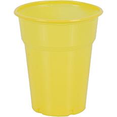 Ποτήρια πλαστικά PP κίτρινα 300ml (50τεμ.)