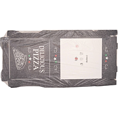 Κουτιά πίτσας microwelle, Delicious μαύρο 26x4,2cm (50τεμ.)