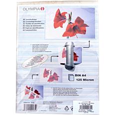 Φύλλα πλαστικοποίησης OLYMPIA A4,125 mic,25 φύλλα