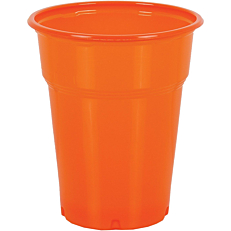 Ποτήρια πλαστικά PP πορτοκαλί 300ml (50τεμ.)
