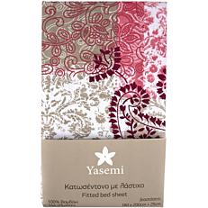 Κατωσέντονο YASEMI με λάστιχο βαμβακερό romance 180x200cm