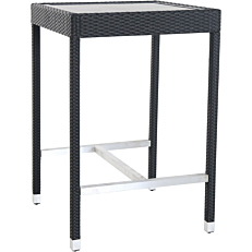Τραπέζι RESORT LINE μπαρ, αλουμίνιο rattan 74x74x110