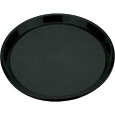 Δίσκος σερβιρίσματος αντιολισθητικός μαύρος 35,5cm