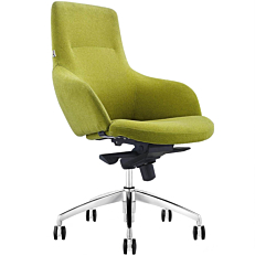 Πολυθρόνα γραφείου πράσινη υφασμάτινη