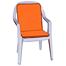 Μαξιλάρι καρέκλας πορτοκαλί 90x45x4cm (2τεμ.)