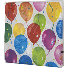 Χαρτοπετσέτες με σχέδιο Balloons 33x33cm δίφυλλες (20τεμ.)
