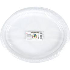 Πιατέλες πλαστικές PS οβάλ λευκές (8τεμ.)