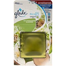 Αρωματικό χώρου GLADE discreet bali sandalwood & jasmine, ανταλλακτικό (1τεμ.)