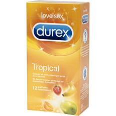 Προφυλακτικά DUREX Tropical χρωματιστά με άρωμα φρούτων (12τεμ.)