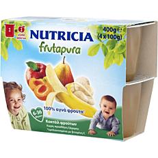 Φρουτόκρεμα έτοιμη NUTRICIA frutapura κοκτέιλ 5 φρούτων (4τεμ.)