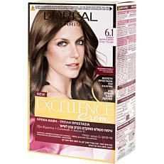 Βαφή μαλλιών L'OREAL excellence ξανθό σκούρο σαντρέ no.6.1