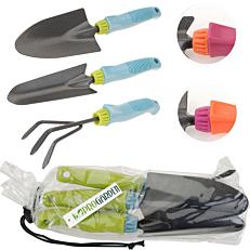 Εργαλεία κήπου χρωματιστή λαβή σετ (3τεμ.)