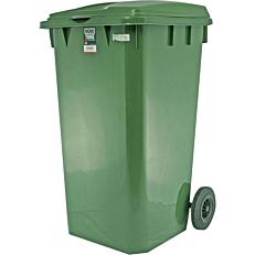 Κάδος απορριμμάτων πλαστικός με ρόδες 240lt