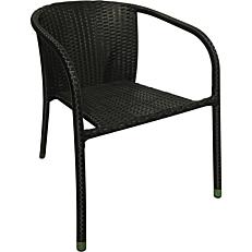 Καρέκλα μεταλλική rattan μαύρη