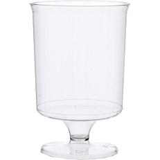 Ποτήρια πλαστικά διαφανή κρασιού με πόδια 170ml (10τεμ.)