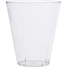 Ποτήρια πλαστικά PS κωνικά διαφανή 22cl (60τεμ.)