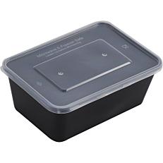 Σκεύη PP μαύρα με καπάκι 750ml (50τεμ.)