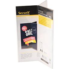 Βάση επιτραπέζια SECURIT Α5, τρίπτυχο, διαφανής