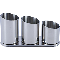 Bar Organizer inox 3 θέσεων 25x8x12cm