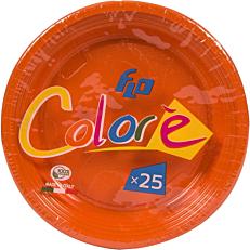 Πιάτα πλαστικά σε πορτοκαλί χρώμα 17oz (25τεμ.)